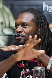 © Licensed to London News Pictures . 25/04/2013 . Sheffield , UK . AUDLEY HARRISON . Final press conference in advance of Amir Khan vs Julio Diaz boxing bout , today (Thursday 25th April 2013) at the Mercure Hotel in Sheffield City Centre ahead of the fight on April 27th at the Motorpoint Arena in Sheffield . Photo credit : Joel Goodman/LNP