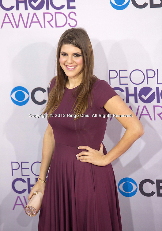 Molly Tarlov arrives at the 39th Annual People's Choice Awards at Nokia Theatre L.A. Live on Wednesday January 9, 2013 in Los Angeles, California, United States. (Photo by Ringo Chiu/PHOTOFORMULA.com)