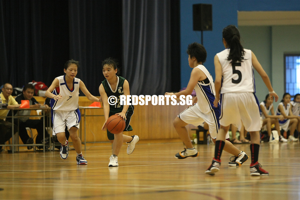 Jurong East Sports Hall, Monday, March 11, 2013 — Singapore Chinese Girls' School (SCGS) defeated Raffles Girls' School (RGS) 64–41 to take home the South Zone B Division Championship.<br /> <br /> Story: http://www.redsports.sg/2013/03/13/south-zone-b-div-bball-scgs-rgs/