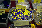 © Licensed to London News Pictures. 23/03/2013. Exeter, UK.  Assorted items for sale at the UKIP conference shop.  The UK Independence Party (UKIP) 2013 Spring Conference is held at the Great Hall, Exeter University today, Saturday 23rd March 2013. Support for the party is rising after success in the recent Eastleigh by-election, where UKIP came second behind the Liberal Democrats. Photo credit : Stephen Simpson/LNP