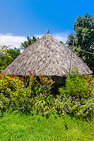 A thatched hut, Island of Ouvea, Loyalty Islands, New Caledonia
