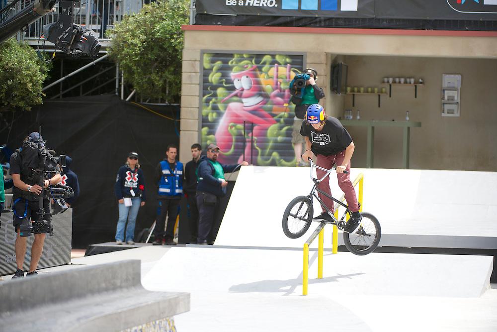 Simone Barraco during BMX Street Finals at the 2013 X Games Barcelona in Barcelona, Spain. ©Brett Wilhelm/ESPN