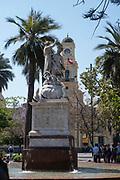 Fountain, Plaza de Armas, Santiago, Chile.