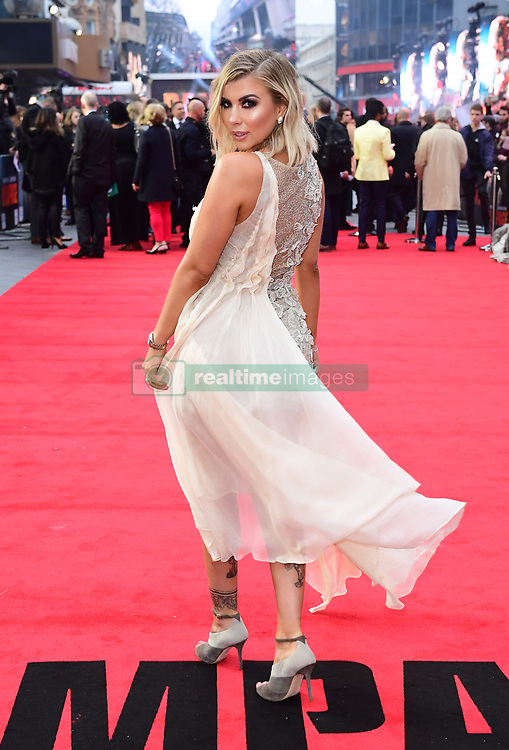 Olivia Buckland attending the European premiere of Rampage, held at the Cineworld in Leicester Square, London. Picture date: Wednesday April 11, 2018. See PA story SHOWBIZ Rampage. Photo credit should read: Ian West/PA Wire