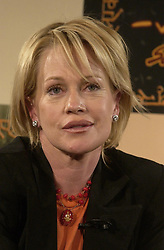 Melanie Griffith promoting a CD, on which she is performing, for the Sabera Foundation which focuses on the social transformation of young women in India.  Headshot.