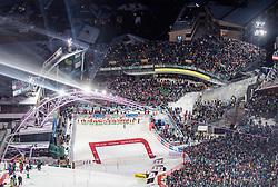 THEMENBILD - Bereits zum 22. Mal begeistert der FIS Nachtslalom der Herren am 29. Jänner 2019 tausende Zuseher im WM-Austragungsort 2013 in Schladming, hier im Bild:  Archivbild vom 23.01.2018, Planai, Schladming, AUT, FIS Weltcup Ski Alpin, Schladming, Slalom, Herren, 1. Lauf, im Bild Übersicht Planaistadion // Overview Planaistadium during the men's Slalom of FIS ski alpine world cup at the Planai in Schladming, Austria on 2018/01/23. EXPA Pictures © 2018, PhotoCredit: EXPA/ Johann Groder