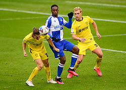 Brandon Hanlan of Bristol Rovers challenges for the ball with Ben Fox of Burton Albion - Mandatory by-line: Dougie Allward/JMP - 17/10/2020 - FOOTBALL - Memorial Stadium - Bristol, England - Bristol Rovers v Burton Albion - Sky Bet League One