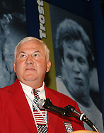28 August 2006: Al Trost during his induction speech. The National Soccer Hall of Fame Induction Ceremony was held at the National Soccer Hall of Fame in Oneonta, New York.