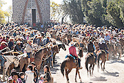 Mexican cowboys arrive for the Catholic mass on Cubilete Mountain at the end of the annual Cabalgata de Cristo Rey pilgrimage January 6, 2017 in Guanajuato, Mexico. Thousands of Mexican cowboys and horse take part in the three-day ride to the mountaintop shrine of Cristo Rey.