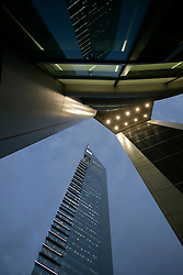 A view of emirates towers, Dubai, UAE, March 21, 2006. Photo by Silvia Baron / i-Images.