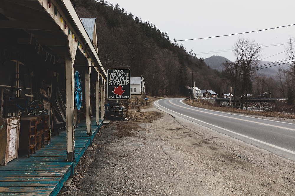 A roadside antique stop along Route 100 in Vermont.