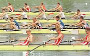 Nottingham, National Rowing Championship. <br /> <br /> Photo Peter Spurrier<br /> Neg No. 2514-13<br /> <br /> LM8+<br /> <br /> Start of the Sat final Men's lightweight eights     [Mandatory Credit;Peter SPURRIER;Intersport Images] 20010723 National Rowing Championships, Nottingham. UK
