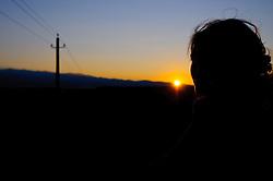 10.10.2010, Knittelfeld, AUT, Herbst Features, Bild zeigt die Silhouette einer jungen Frau bei Sonnenuntergang im Herbst, EXPA Pictures © 2010, PhotoCredit: EXPA/ S. Zangrando