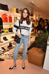 Lady Alice Manners at launch of Bimba Y Lola, 295 Brompton Road, London England. 26 April 2018.