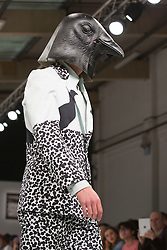 © Licensed to London News Pictures. 31/05/2015. London, UK. Collection by Maria Phillipou. Fashion show of the University of Salford at Graduate Fashion Week 2015. Graduate Fashion Week takes place from 30 May to 2 June 2015 at the Old Truman Brewery, Brick Lane. Photo credit : Bettina Strenske/LNP