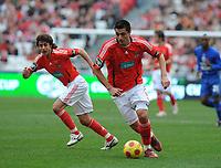 20090117: LISBON, PORTUGAL - SL Benfica vs Belenenses: Portuguese League Cup 2008/2009. In picture: Aimar and Cardozo (Benfica). PHOTO: Alvaro Isidoro/CITYFILES