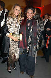 Son of the Sultan of Brunei PRINCE AZIM OF BRUNEI and JERRY HALL at Andy & Patti Wong's Chinese New Year party to celebrate the year of the Rooster held at the Great Eastern Hotel, Liverpool Street, London on 29th January 2005.  Guests were invited to dress in 1920's Shanghai fashion.<br /><br />NON EXCLUSIVE - WORLD RIGHTS