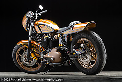 Mark Shadley's 1972 Sportster. Photographed by Michael Lichter in Sturgis, SD. August 6, 2021. ©2021 Michael Lichter