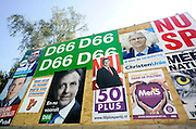 Nederland, Nijmegen, 15-8-2012Verkiezingsbord met affiches voor de komende verkiezingen voor de tweede kamer.Netherlands, election board with posters for the forthcoming national elections. Foto: Flip Franssen/Hollandse Hoogte