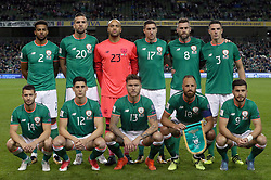 Back Row (left-right): Republic of Ireland's Cyrus Christie, Shane Duffy, Darren Randolph, Stephen Ward, Daryl Murphy, Ciaran Clark.<br /> <br /> Front Row: Wes Hoolahan, Callum O'Dowda, Jeff Hendrick, David Meyler and Shane Long.<br /> <br /> Republic of Ireland team group photo during the 2018 FIFA World Cup Qualifying, Group D match at the Aviva Stadium, Dublin. PRESS ASSOCIATION Photo. Picture date: Friday October 6, 2017. See PA story SOCCER Republic. Photo credit should read: Niall Carson/PA Wire. RESTRICTIONS: Editorial use only, No commercial use without prior permission