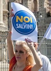 June 9, 2017 - Rome, Italy - A protest against Mayor Virginia Raggi's plan for overcoming the gypsies camps. (Credit Image: © Patrizia Cortellessa/Pacific Press via ZUMA Wire)