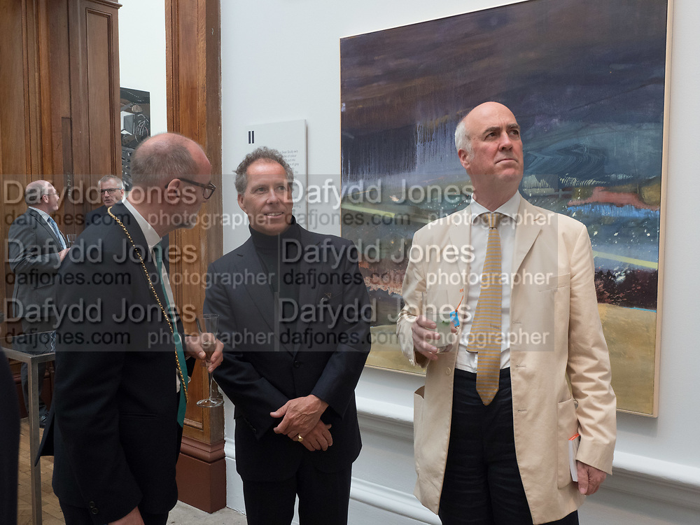 CHRISTOPHER LE BRUN; LORD SNOWDON; CHARLES SAUMERAZ-SMITH, Royal Academy of Arts Summer Party. Burlington House, Piccadilly. London. 7June 2017
