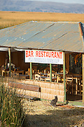 Restaurant and bar, Lake Titicaka, Puno.