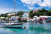 Boats in harbor, Harrington Sound, Bermuda
