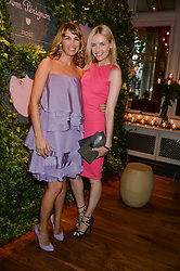 Left to right, ASSIA WEBSTER and NADYA ABELA at the Dom Perignon Rose 2002 Dark Jewel launch with Stephen Webster held at The Connaught Hotel, London on 12th June 2013.