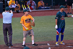 04 August 2018: Marc Strauss, Aramis Ramirez. Legends Game for the Miracle League at Corn Crib Stadium on the campus of Heartland Community College in Normal Illinois<br /> <br /> Game featured retired MLB players from the ST. Louis Cardinals and the Chicago Cubs...  Derek Lee, Bobbie Dernier, Kyle Farnsworth, Les Lancaster, Ray Lankford, Kerry Robinson, Jim Edmonds, and Aramis Ramirez