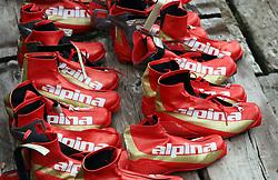 Alpina presentation of new cross-country shoes with red dot award: product design, on April 24, 2008, in Pokljuka, Rudno polje, Slovenia.  (Photo by Vid Ponikvar / Sportal Images)/ Sportida)