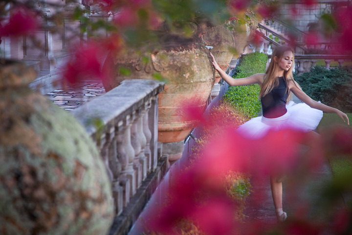 Young Dancer in the court yard of the Ringling Museum, Sarasota, Florida