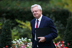 © Licensed to London News Pictures. 24/10/2016. London, UK. Secretary of State for Exiting the European Union DAVID DAVIS attends a Joint Ministerial Committee to discuss the UK regional response to Brexit in Downing Street on Monday, 24 October 2016. Photo credit: Tolga Akmen/LNP