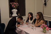 ZAIN GETTY; MARCHIONESS OF CHOLMONDELEY; BEATA HEUMAN, Nicky Haslam hosts dinner at  Gigi's for Leslie Caron. 22 Woodstock St. London. W1C 2AR. 25 March 2015