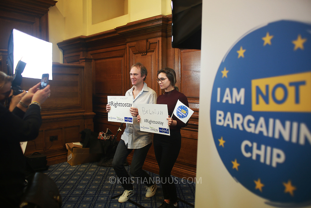 1 Day without Us is a nationwide protest to highlight that EU citizens in the UK feel like bagaining chips in the Brexit negotiantions, used by the Uk government. Feb 2th saw hundreds of EU citizens gatherin Parliamnet square to go and lobby their respective MPs to safe guard their right to stay in Britain post Brexit.