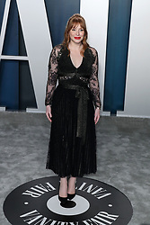 BEVERLY HILLS, LOS ANGELES, CALIFORNIA, USA - FEBRUARY 09: 2020 Vanity Fair Oscar Party held at the Wallis Annenberg Center for the Performing Arts on February 9, 2020 in Beverly Hills, Los Angeles, California, United States. 09 Feb 2020 Pictured: Bryce Dallas Howard. Photo credit: Xavier Collin/Image Press Agency/MEGA TheMegaAgency.com +1 888 505 6342