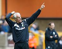 Photo: Steve Bond/Richard Lane Photography. Wolverhampton Wanderers v Aston Villa. Barclays Premiership 2009/10. 24/10/2009. Mick McCarthy on the touchline in front of Martin O'Neill