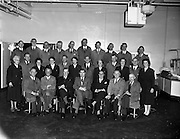 30/10/1959<br /> 10/30/1959<br /> 30 October 1959<br /> W. D.& H. O. Wills South Circular Road, Dublin.<br /> Retirements at Wills.