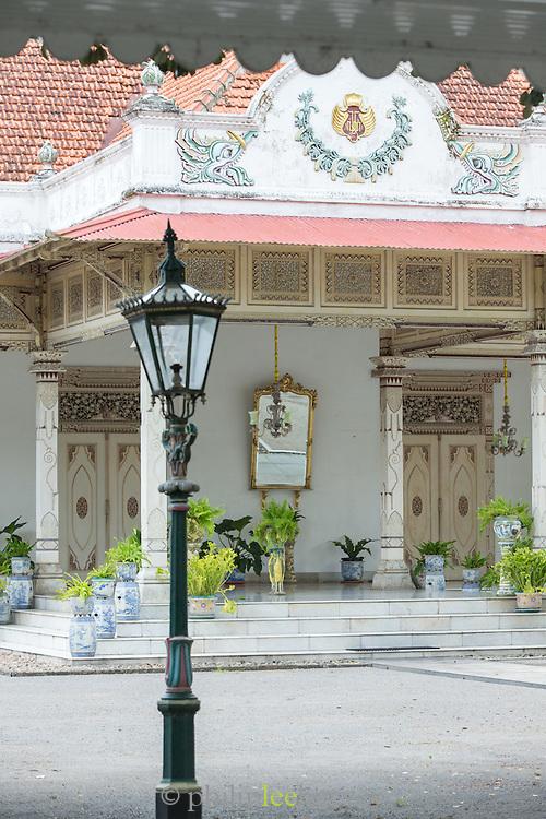 Lamp post the Kraton of Yogyakarta, Yogyakarta, Yogyakarta Special Region, Java, Indonesia, Southeast Asia