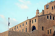 Israel, Tel Aviv, Jaffa, Greek orthodox church in the Old city overlooking the ancient harbour