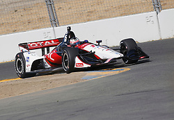 September 14, 2018 - Sonoma, CA, U.S. - SONOMA, CA - SEPTEMBER 14: Graham Rahal hits the apex during the afternoon Verizon IndyCar Series practice for the Grand Prix of Sonoma on September 14, 2018, at Sonoma Raceway in Sonoma, CA. (Photo by Larry Placido/Icon Sportswire) (Credit Image: © Larry Placido/Icon SMI via ZUMA Press)