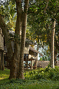 Wooden huts, Togum Village, Lake Murray, Middle Fly District, Western Province, Papua New Guinea