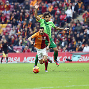 Galatasaray's Yasin Oztekin during their Turkish Super League soccer match Galatasaray between Akhisar Belediye Genclik ve Spor at the AliSamiYen Spor Kompleksi TT Arena at Seyrantepe in Istanbul Turkey on Sunday, 20 December 2015. Photo by Aykut AKICI/TURKPIX