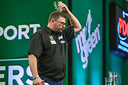 James Wade after his quarter final defeat to Rob Cross during the PDC Darts Players Championship at  at Butlins Minehead, Minehead, United Kingdom on 26 November 2017. Photo by Shane Healey.