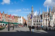 Markt - the main square - in Bruges, Belgium