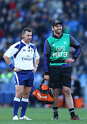 November 12, 2016 - Rome, Italy - Kieran Read of the New Zealand All Blacks today water boy talking with the referee Nigel Owens  during the international rugby match between New Zealand and Italy at Stadio Olimpico on November 12, 2016 in Rome, Italy. (Credit Image: © Arts Culture And Entertainment/NurPhoto via ZUMA Press)
