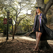 UofSC student portrait on The Horseshoe. ©Travis Bell Photography