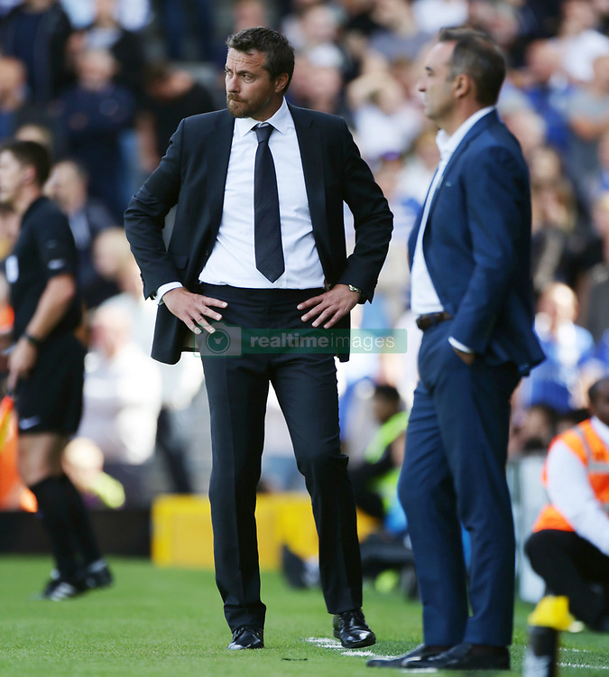 Fulham manager Slavisa Jokanovic (left) on the touchline during the Sky Bet Championship match against Sheffield Wednesday at Craven Cottage, west London.