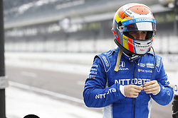 May 18, 2018 - Indianapolis, Indiana, United States of America - ED JONES (10) of the United Arab Emirates prepares to climb aboard his Chip Ganassi Racing IndyCar before making a practice run during ''Fast Friday'' for the Indianapolis 500 at the Indianapolis Motor Speedway in Indianapolis, Indiana. (Credit Image: © Chris Owens Asp Inc/ASP via ZUMA Wire)