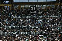 Striscione tifosi Napoli contro Aurelio De Laurentiis Napoli's supporters banner againts their president De Laurentiis <br /> Napoli 31-05-2015 Stadio San Paolo Football Calcio Serie A 2014/2015 Napoli - Lazio. Foto Andrea Staccioli / Insidefoto